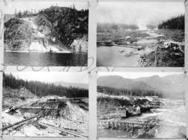 [Four views of Coquitlam Dam and Buntzen Lake Power Plant number two construction