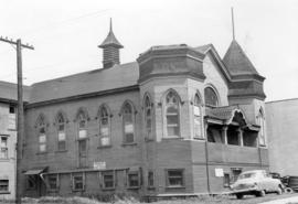 [Exterior of Western Mat Co. Ltd. (former Buddihst Mission Temple) - 1603 Franklin Street]
