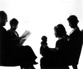 More of them [silhouettes of W.O. Banfield, John Banfield, Jane Banfield and Beatrice Timmins]