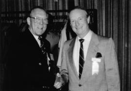 Hugh Pickett and unidentified man