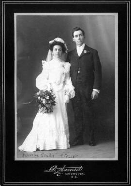 Albertine Bouchie and Fraser [wedding portrait]