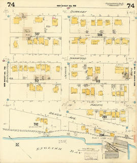 Plate 74 [Bute Street to Burnaby Street to Broughton Street to English Bay]