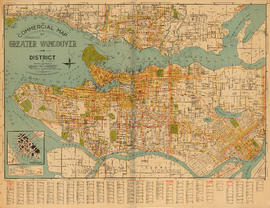 Commercial map of Greater Vancouver and district