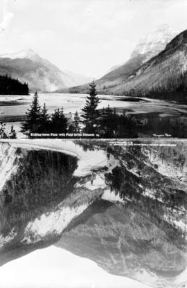 [Two views of the Kicking Horse Flats and the Kicking Horse Canyon]