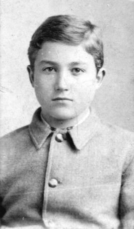 [James Skitt Matthews at fourteen years of age]