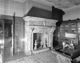 Hycroft [fireplace in the library]