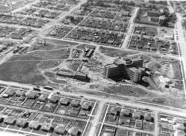 [Job no. 787 : Aerial view of  Lethbridge Municipal Hospital construction site]