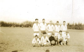 CS [Chinese Students' Athletic Association] Junior [soccer team] vs. South Van. [Vancouver] ...