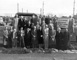 [Group portrait at sod-turning ceremony for the Kerrisdale Community Centre]