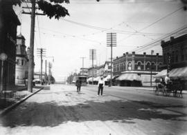 [Westminster Avenue, later Main Street, looking north from Keefer Street]
