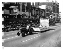 Pemberton District Board of Trade float in 1956 P.N.E. Opening Day Parade