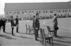 Men standing at opening of the Seaforth Armoury