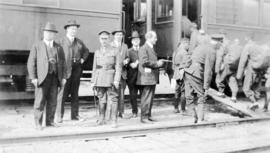 Chinese Labour Corps boarding the train in Vancouver