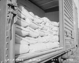 Rail shipping - freight cars loaded at BC Sugar