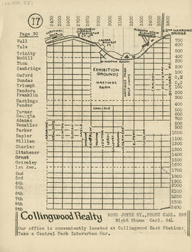 Sectional map and street directory of Vancouver, British Columbia : [Boundary Road to Wall Street...