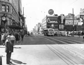 [Granville Street at Georgia Street, looking south]