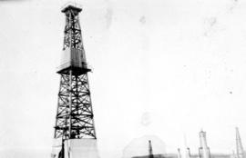 Oil country - [oil well in Turner Valley, Alberta]