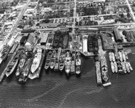 [Burrard Dry Dock from the air]