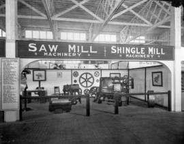 Canadian Sumner Iron Works saw mill and shingle mill machinery display