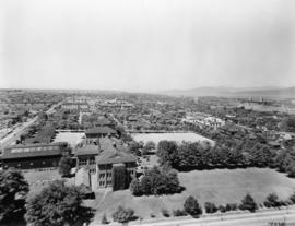 Vancouver looking west from City Hall, 1936
