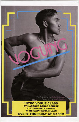 Voguing : intro vogue class at Harbour Dance Centre, 927 Granville Street with Ralph Escamillan