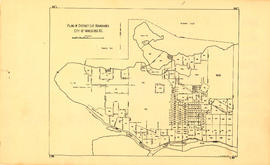 Plan of district lot boundaries, City of Vancouver, B.C.