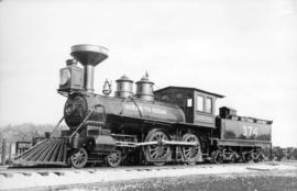 Locomotive 374 First Train in Vancouver, May 23, 1887 [retired at Kitsilano Beach]