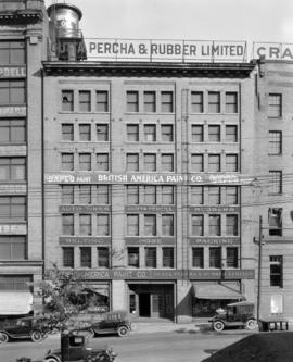 Gutta Percha & Rubber Ltd. [526 Beatty Street] and British America Paint Co. (Bapco) Building...