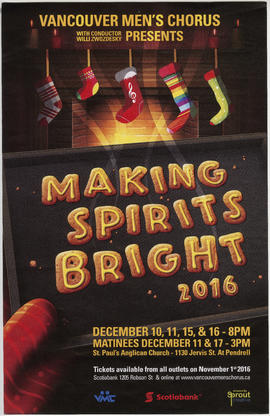 Vancouver Men's Chorus with conductor Willi Zwozdesky presents Making Spirits Bright 2016 : St. P...
