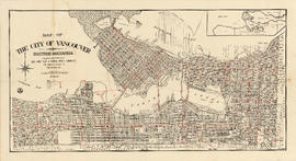 Map of the city of Vancouver, British Columbia