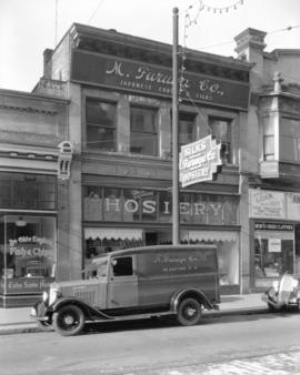 M. Furuya Company truck [in front of 46 West Hastings Street]