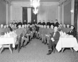 Army Service Corps Officers at banquet in Hotel Georgia
