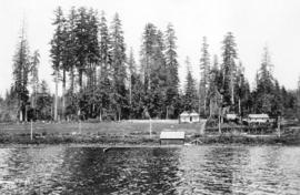 [View of Walter V. Bainbridge's ranch from Burnaby Lake]