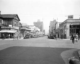 [View of Howe Street looking north from Dunsmuir Street]