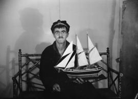 Mr. Roy Jacobs [model ship displayed]