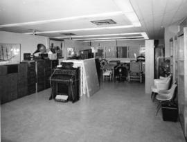 [Interior view of the main room of the City Archives, Burrard Street]