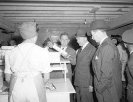 [The Viscount Alexander of Tunis' visit to] Imperial Cannery
