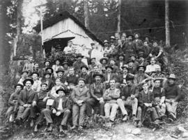[A logging crew at Lake Coquitlam]