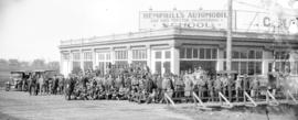 [Students and teachers at Hemphill's Automobile and Gas Tractor Engineering School]