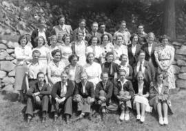 [Group photograph of students at the British Columbia Government Normal School]