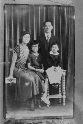Winnifred Ho Eng, Raymond Eng, and their children