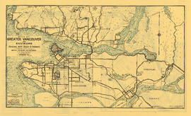 Tourists' map of Greater Vancouver : map of Greater Vancouver and environs showing principal...