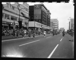 Ferndale High School Band in 1959 P.N.E. Opening Day Parade