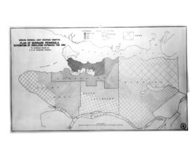 Plan of Burrard Peninsula - distribution of population estimated for 1950