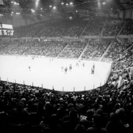 Vancouver Canucks WHL hockey game in Pacific Coliseum