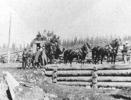 [Stage coach at Mile 70 of the Cariboo Road]