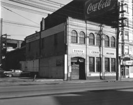 [Exterior of North Coast Welding where a plaque commemorating Vancouver Electric Illuminating Com...