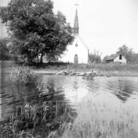 [Roman Catholic church on MacMillan Island Indian Reserve No. 6 on the Fraser River]