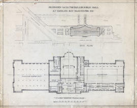 Site plan and lower ground floor plan