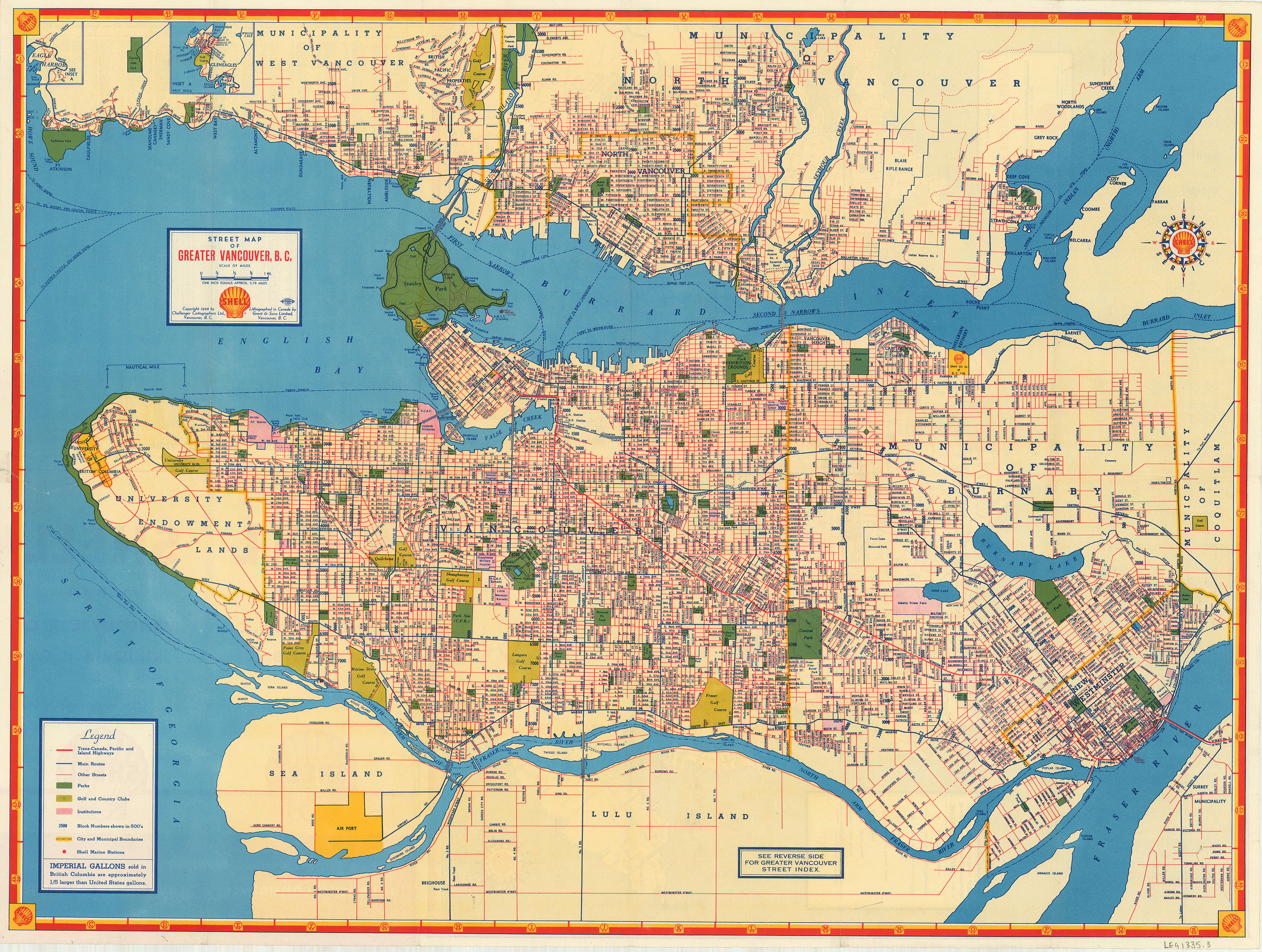 Street map of Greater Vancouver, B.C. - City of Vancouver Archives